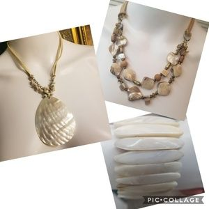Beautiful natural materials jewelry.